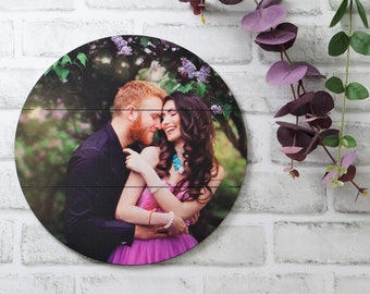 Wood Photo Print, Picture on Pallet Wood, Custom Photo Print, Rustic Wood Portrait many sizes to choose from.