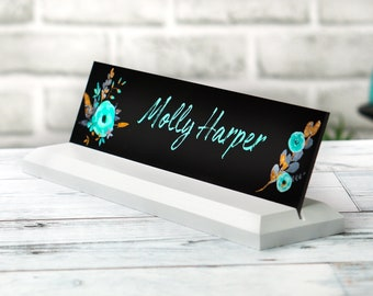 Desk Name Plate 10 x 2.5 inches