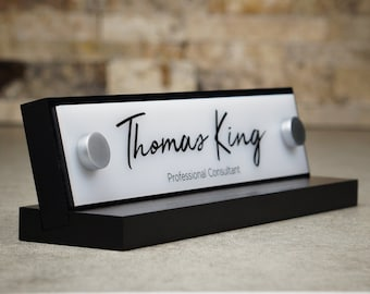 "Made by Garo Signs - Desk Name Plate 10"" x 2.5"""