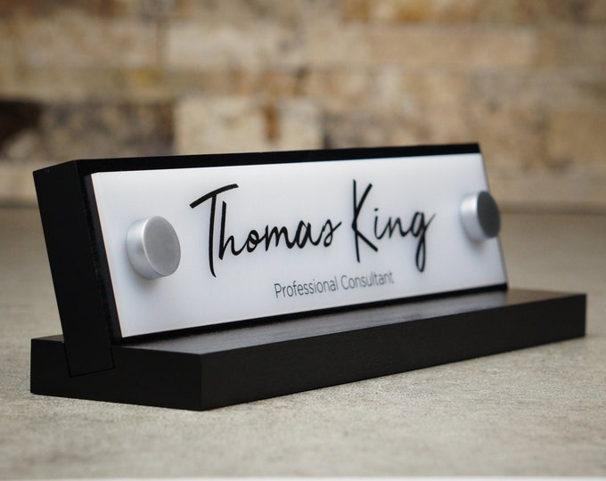 """Made by Garo Signs - Desk Name Plate 10"""" x 2.5"""""""