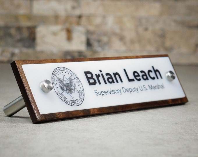 Coworker Gift and Desk Decor - Personalized Desk Nameplate - 10 x 2.5 inches