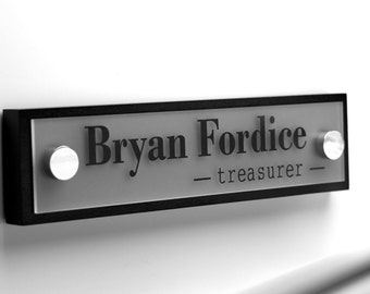 Office Door Nameplate, Business Door Sign, Office Sign, Professional Personalized Wood Sign Gift 10 x 2.5
