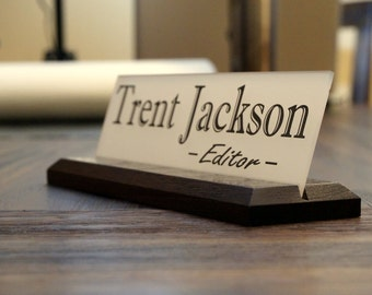 Personalized Desk Name Plate Garo Signs Unique Office Sign 10 x 2.5 inches