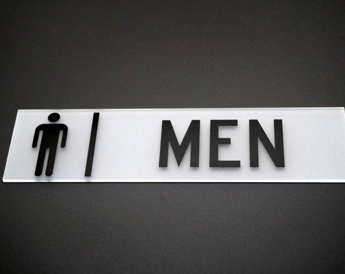 Restroom Sign Acrylic Door Sign 10 x 2.5 inches