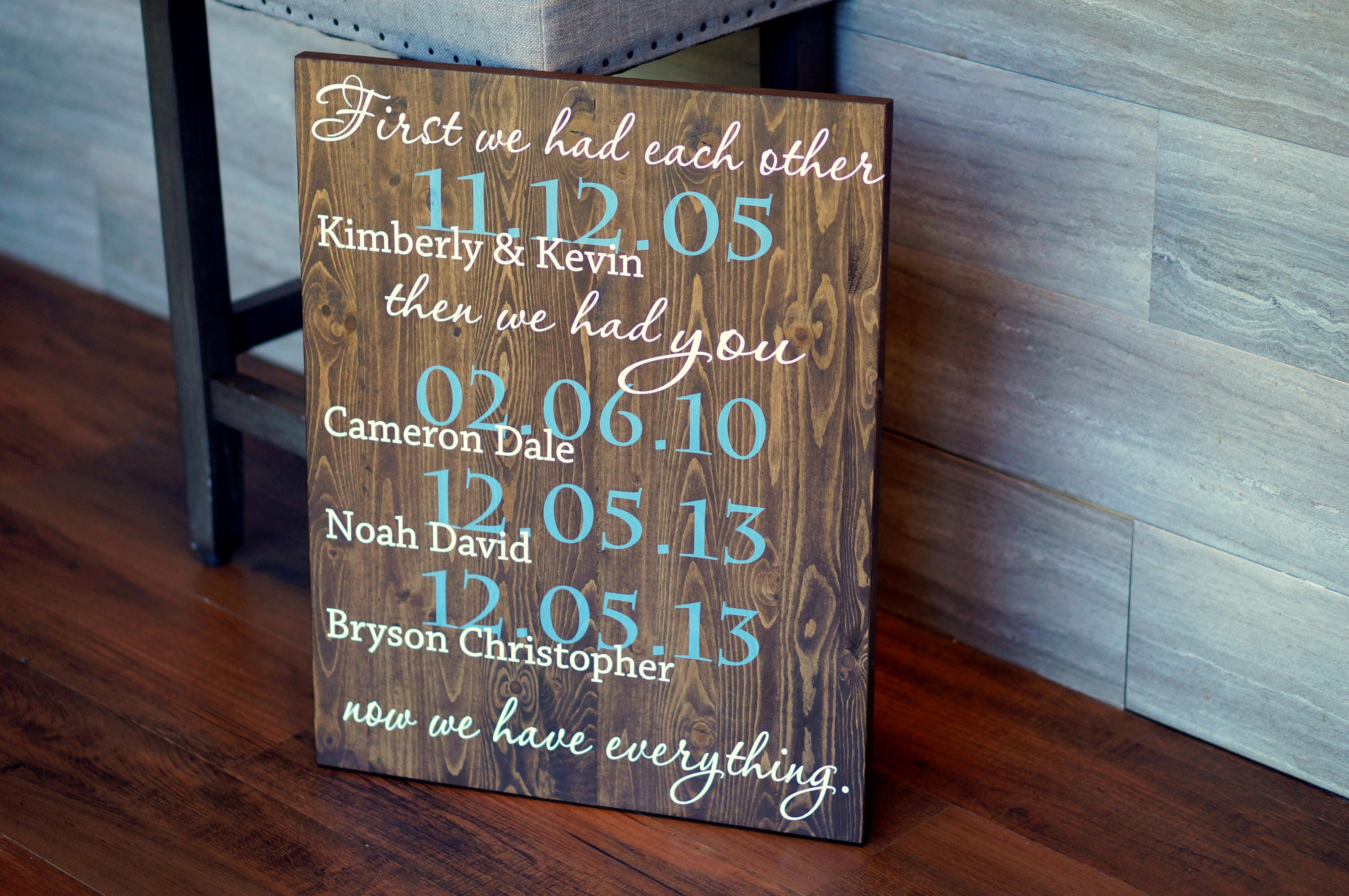 First We Had Each Other Custom Quote Sign Important Dates Etsy