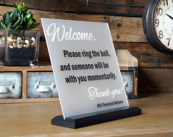 Made by Garo Signs - Welcome Name Plate