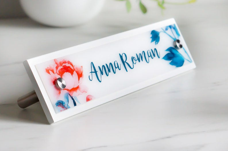 Desk Name Plate Personalized Office Sign Decor  10 x 2.5 image 0