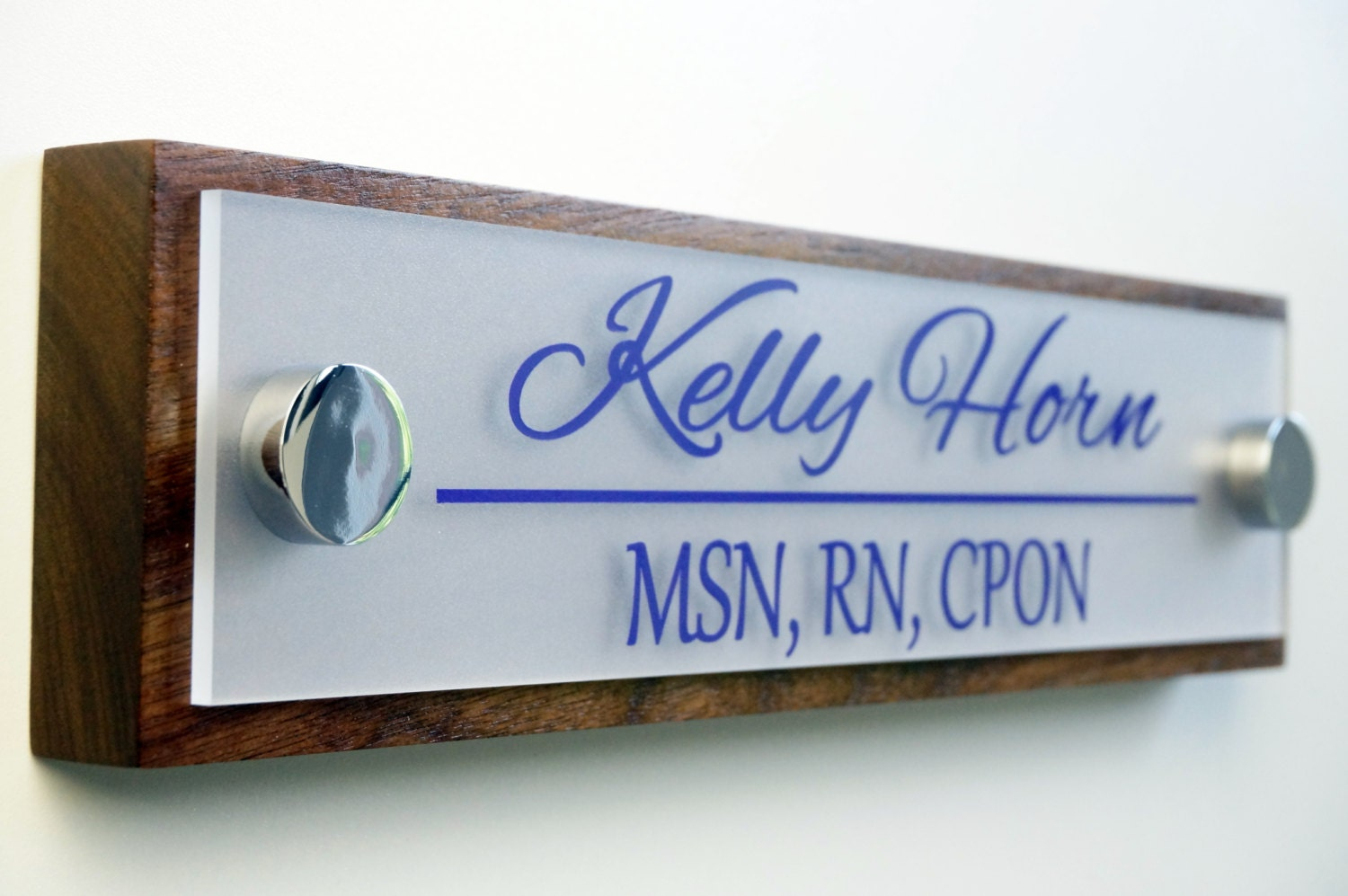 Office Door Name Plate Personalized Office Accessories and Wood Door ...