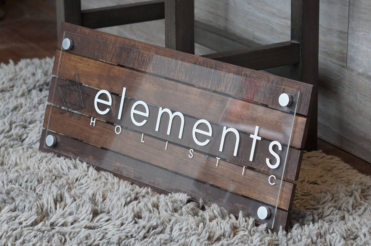 Custom Pallet Or Reclaimed Wood Business Sign With Logo 10 X 22