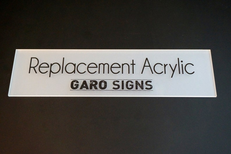 REPLACEMENT ACRYLIC for your Garo Sign image 0