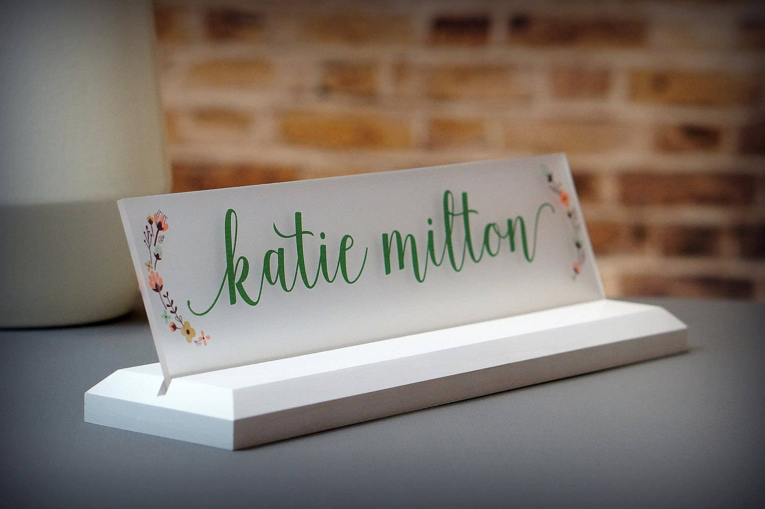 Desk Accessories Wooden Desk Name Plate Makes A Great Teacher