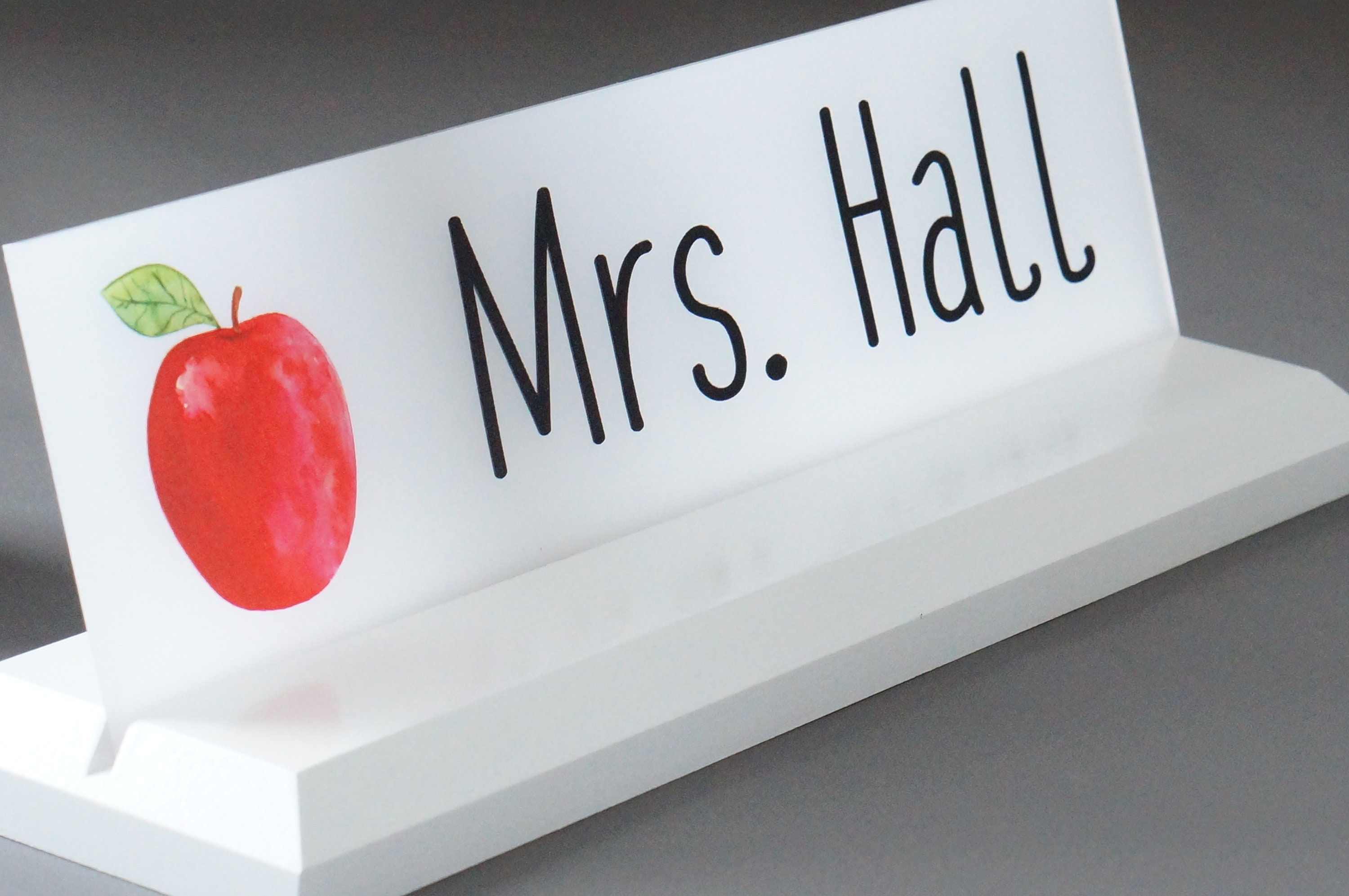 Teacher Classroom Desk Name Plate With Logo Personalized Wood