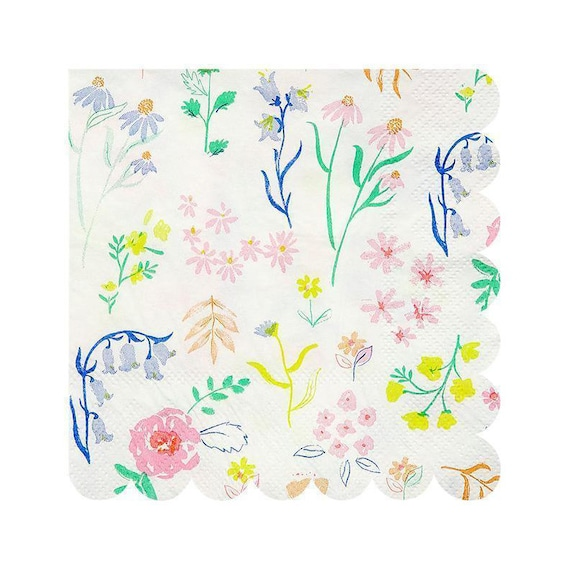 Patterned Tableware And Birthdays For Floral Hen Party Napkins PartiesBaby Showers 0P8nOwkX
