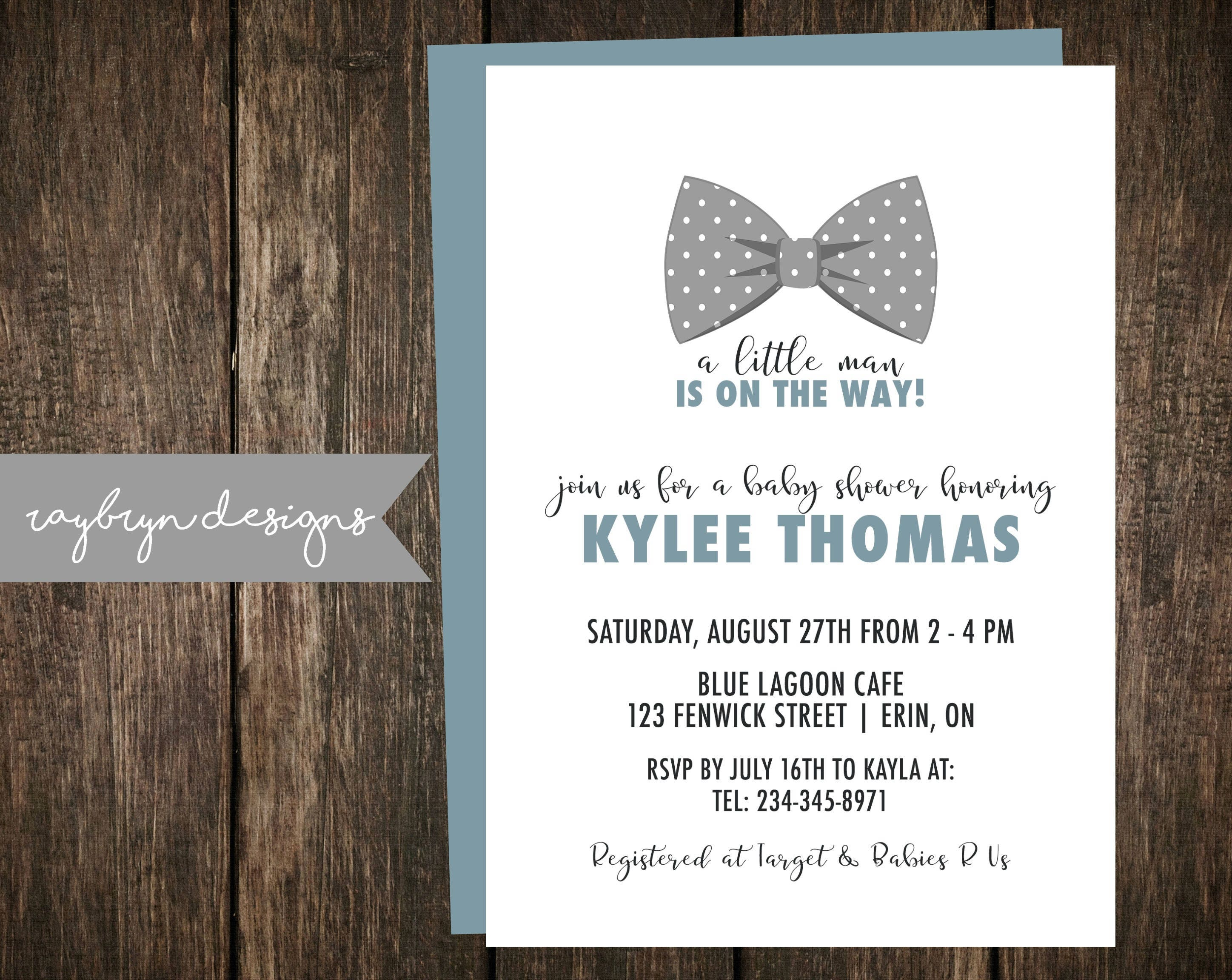 A Little Man is on the Way!   Baby Bow Tie   Shower Invitation ...