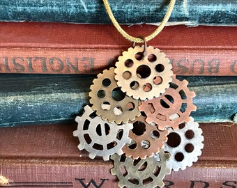 Gear Ornament, Steampunk Gear Ornament, Steampunk Christmas, Amber Ily's Steamcrafts Original