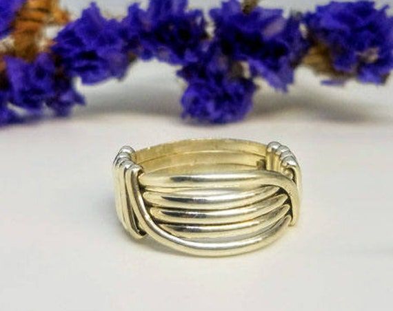 Ethically Sourced .935 Argentium Silver Unisex Minimalist Simple Band Ring Size 6.25