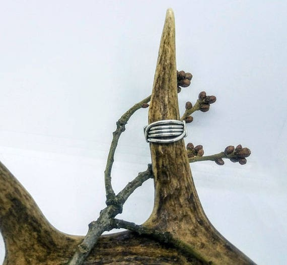 Ethically Sourced .935 Argentium Silver Handcrafted Unisex Ring Size 6.0