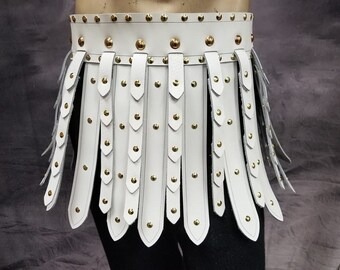 Cosplay #DK2042 Studded War Skirt for SCA Reenactment LARP Roman Gladiator Belt