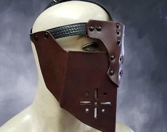 Leather Armor Gothic Visor mask