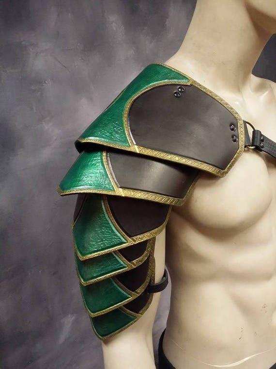Leather Armor Ornate Sentinel 2 six piece segmented shoulder