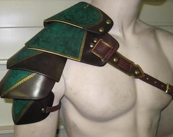 Leather Armor Ornate Gothic shoulder