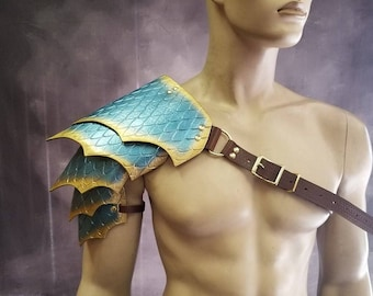 Leather Armor Sentinel 2 Dragon Scale Shoulder