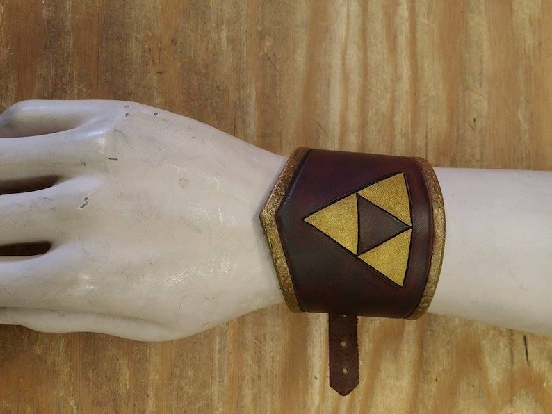 Triforce Leather Wrist Cuff image 0