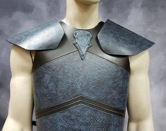 Leather Armor Night King Chest Back and Shoulders