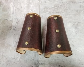 Leather Armor Leather Bracers Cuffs