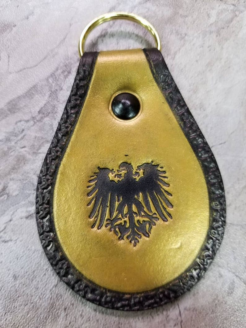 Imperial Eagle Keychain Zipper Pull Key Chain Key Fob image 0
