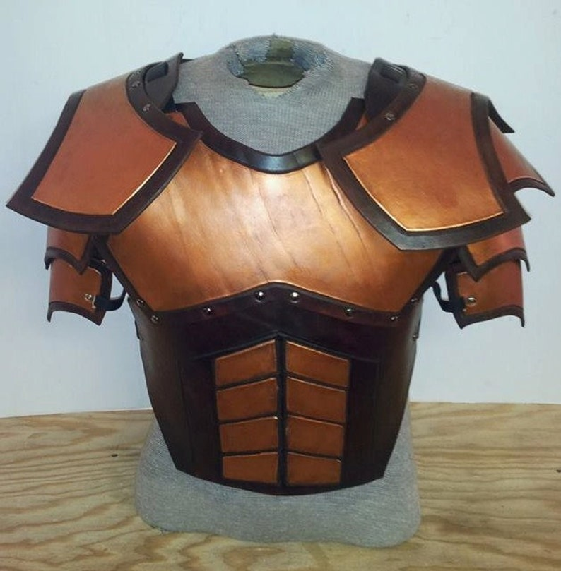 Leather Armor Juggernaut Chest Back and Shoulders image 0