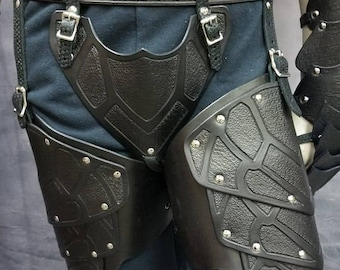 Leather Armor Nightingale Inspired  Cuisses and Cod Piece