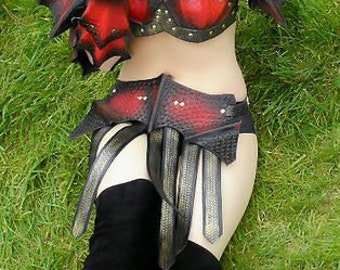 Leather Armor Ladies Dragon ScalePartial Set
