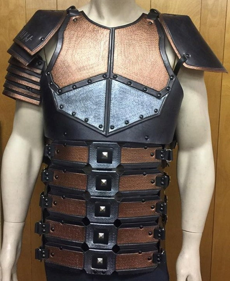 Leather Armor Dead Space Inspired Chest Back & Shoulders image 0
