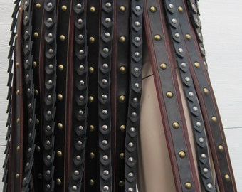 Leather Armor Deluxe Roman Gladiator War Skirt