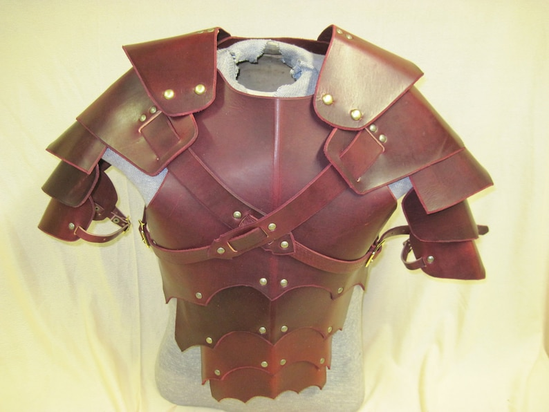 Leather Armor Gothic chest back & shoulders image 0