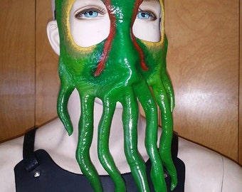 Molded leather Cthulhu Mask IN STOCK