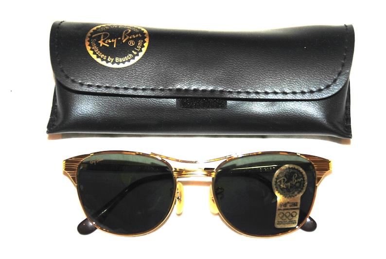 14b50c6585 Vintage B L Ray Ban Signet Gold G-15 W0386 52mm Sunglasses