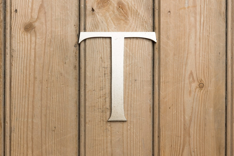 Vintage Letter T Metal Letter T Home Decor Wall Art Name image 0
