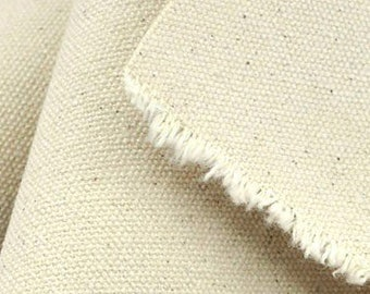 """DUCK CANVAS natural cotton, 75"""" width (weight 10oz) upholstery fabric, sold by the foot, sold by the yard"""