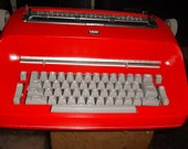 Vintage Red 1960s Authentic 1960s IBM Selectric I Serviced And Tested I B M Typewriter Works Great