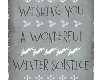 Winter solstice card etsy a wonderful winter solstice greetings card m4hsunfo