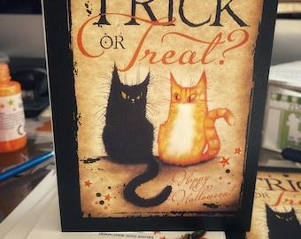 Trick Or Treat Halloween greetings card