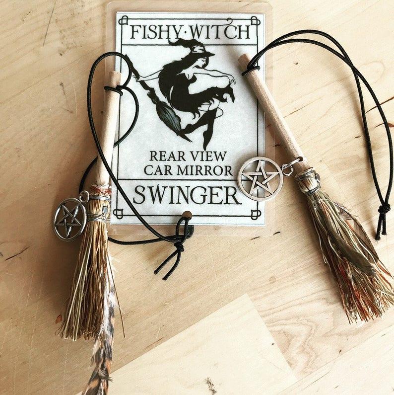 Witch's broom car swinger