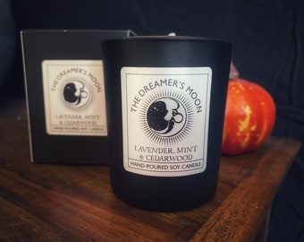 The Dreamer's Moon luxury essential oil candle