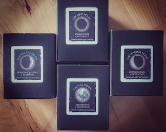 Moon Phases luxury candle set