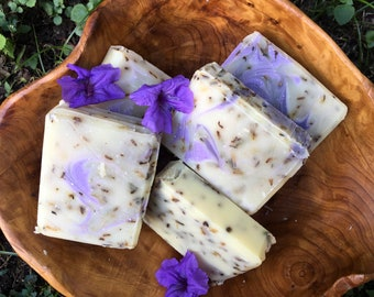 Handcrafted French Lavender soap free shipping USA