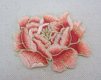Orange Flower Patch, Embroidered Patch for Shirts, Jeans, Jackets
