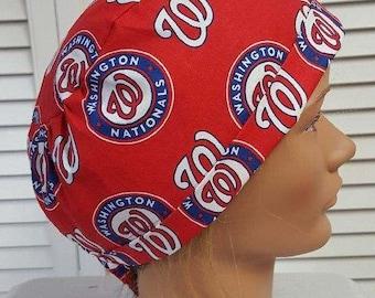Men or Women s  Washington Nationals Scrub Hat - Adjustable Fold Up c65b10aa1278