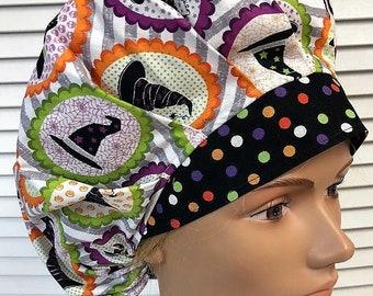 e72e1b7d61f Halloween Witch Hats - Bouffant Scrub Hat